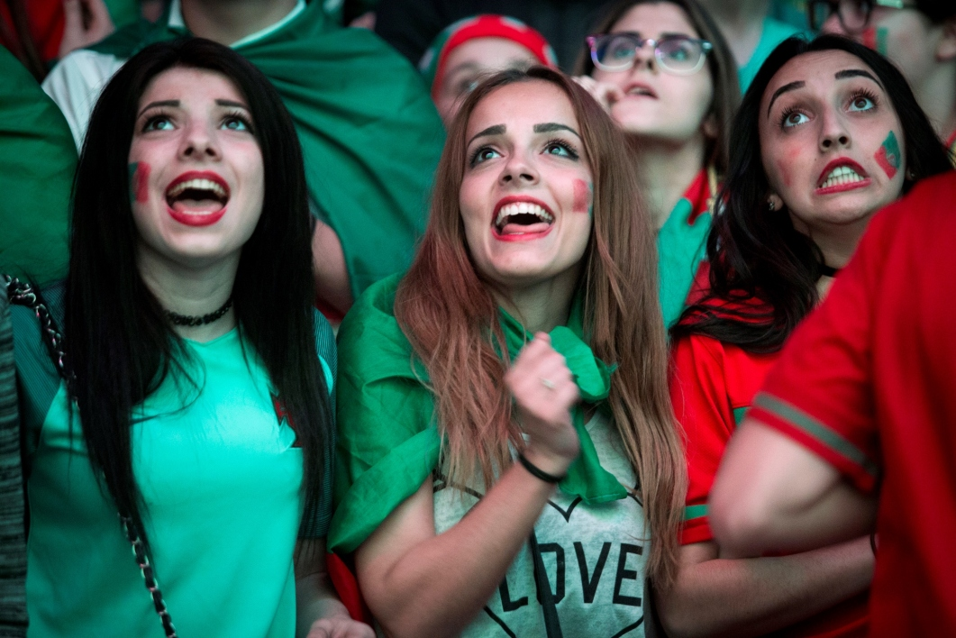 Des supportrices du Portugal