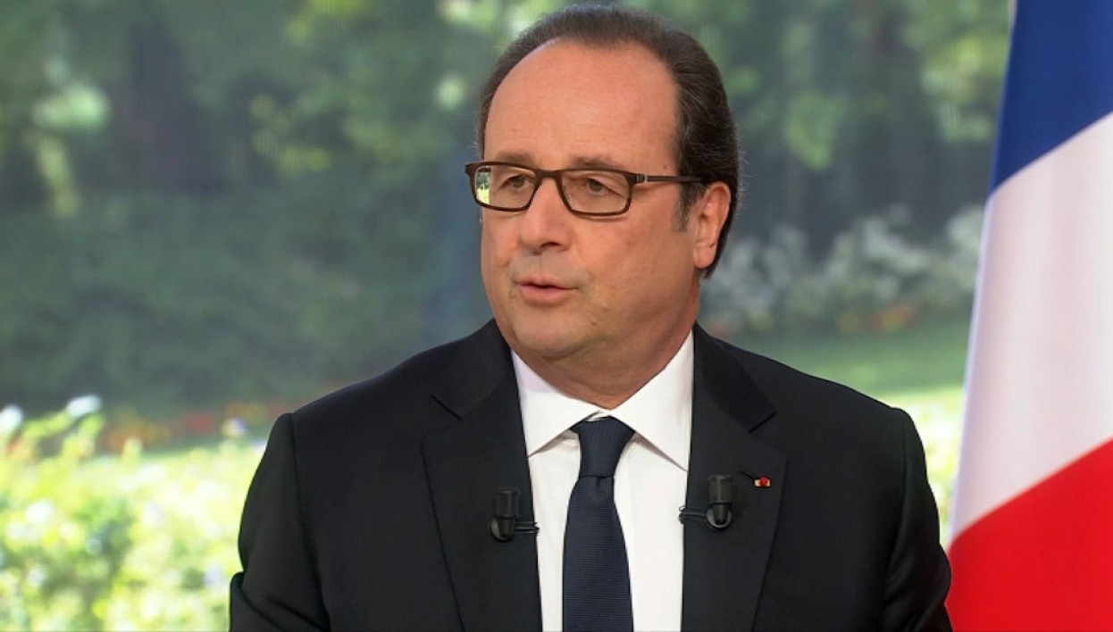 Nice: dans son intervention du 14-Juillet, Hollande soulignait le climat plus tranquille en France