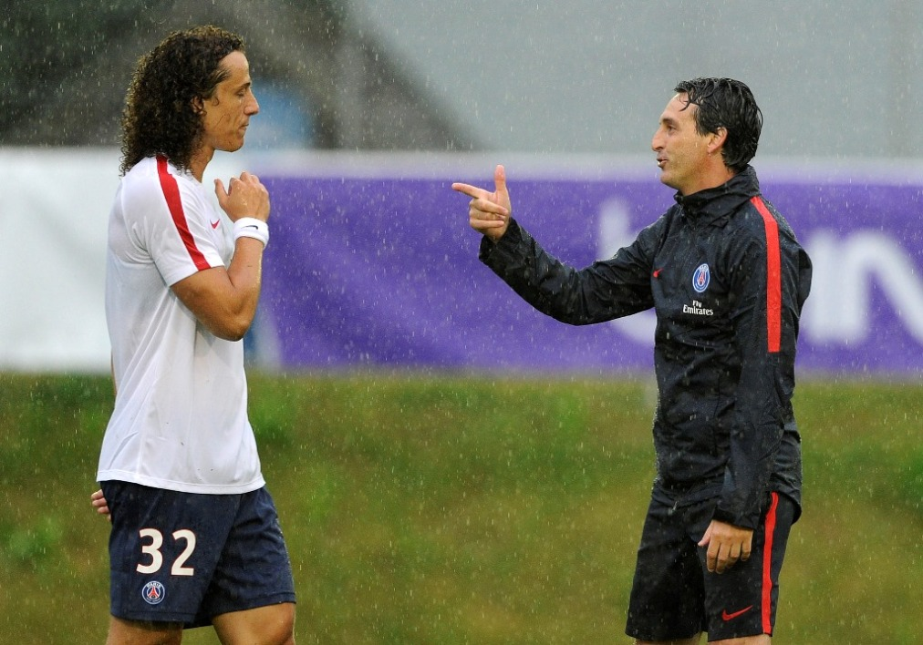 David Luiz et Unai Emery