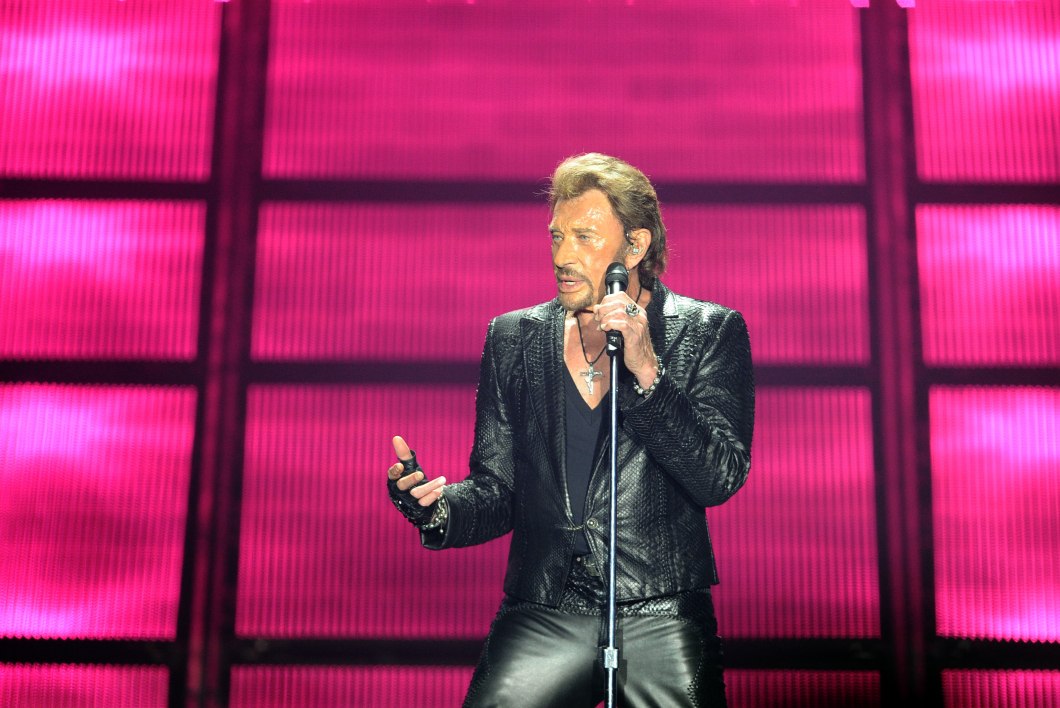 Johnny Hallyday en juin 2013 à Bordeaux.