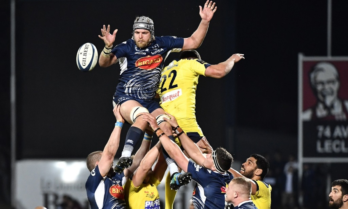 Tom Murday lors de Agen-Clermont