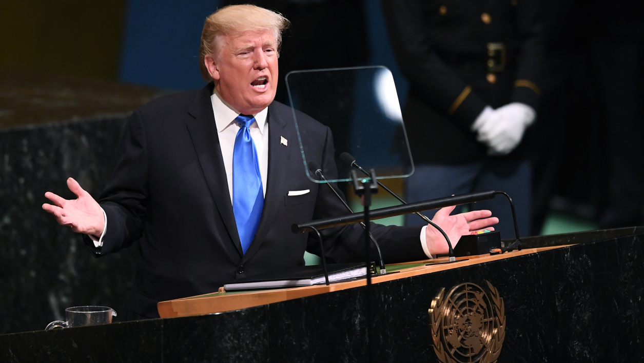 Donald Trump à la tribune de l'ONU, le 19 septembre 2017.