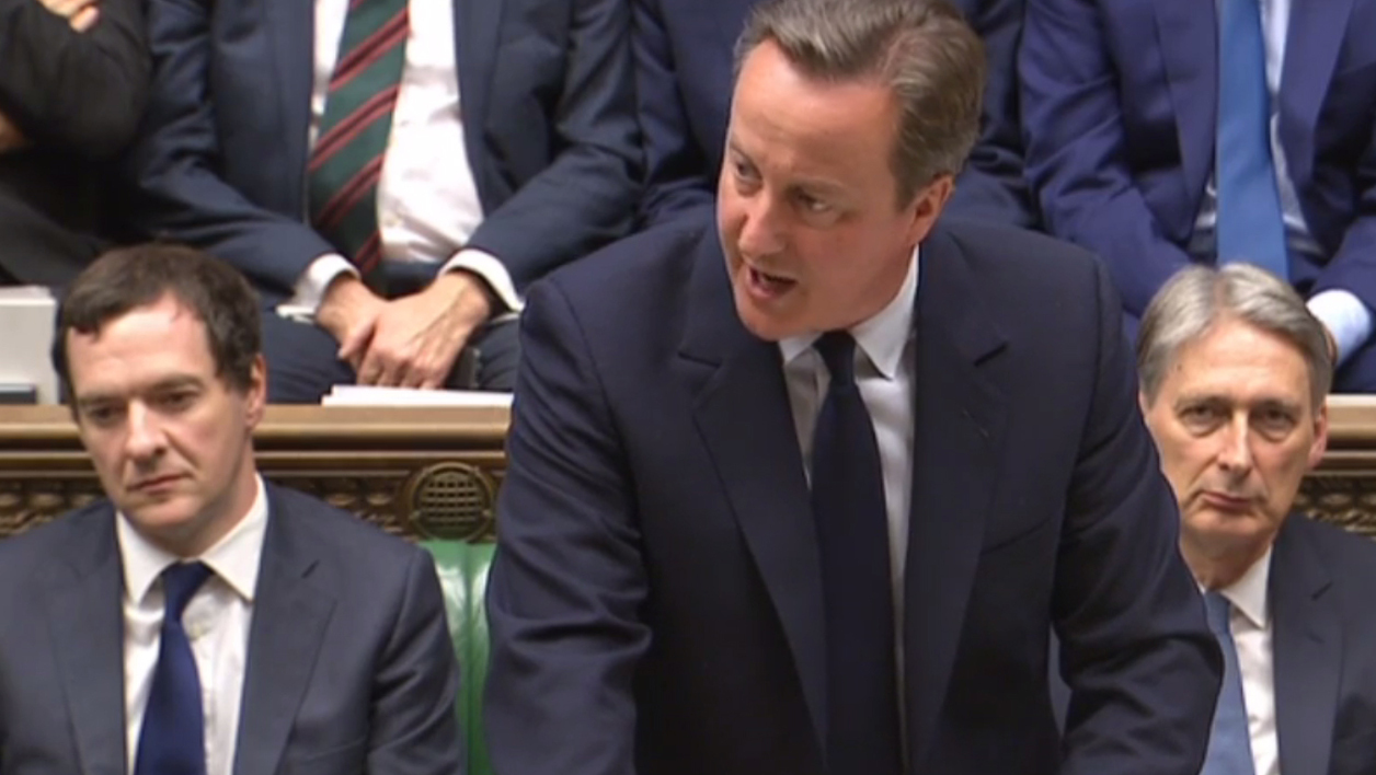 In this video grab taken from footage broadcast by the UK Parliamentary Recording Unit (PRU) shows British Prime Minister David Cameron giving a statement in Parliament in London on June 27, 2016 following the EU referendum. Britain must not turn its back on Europe or the rest of the world even though it is leaving the European Union, Prime Minister David Cameron told parliament Monday after a shock referendum. Handout / AFP PRU / AFP