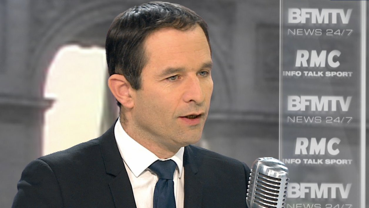 Benoît Hamon face à Jean-Jacques Bourdin: le récit de l'interview en tweets et en images