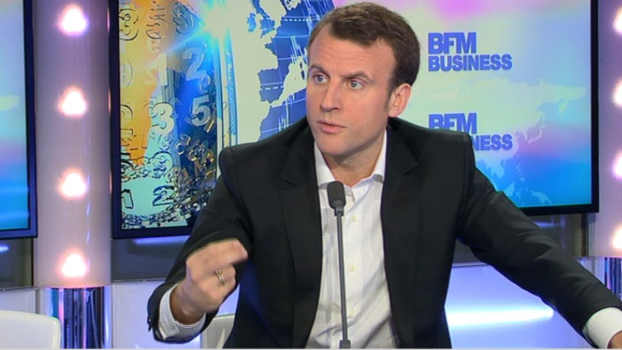 Emmanuel Macron était l'invité de l'émission Good Morning Business ce jeudi.
