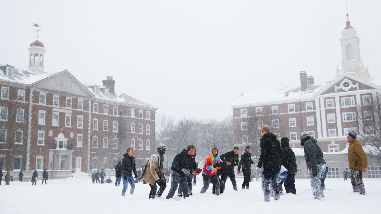 L'université d'Harvard sous la neige (image d'illustration)