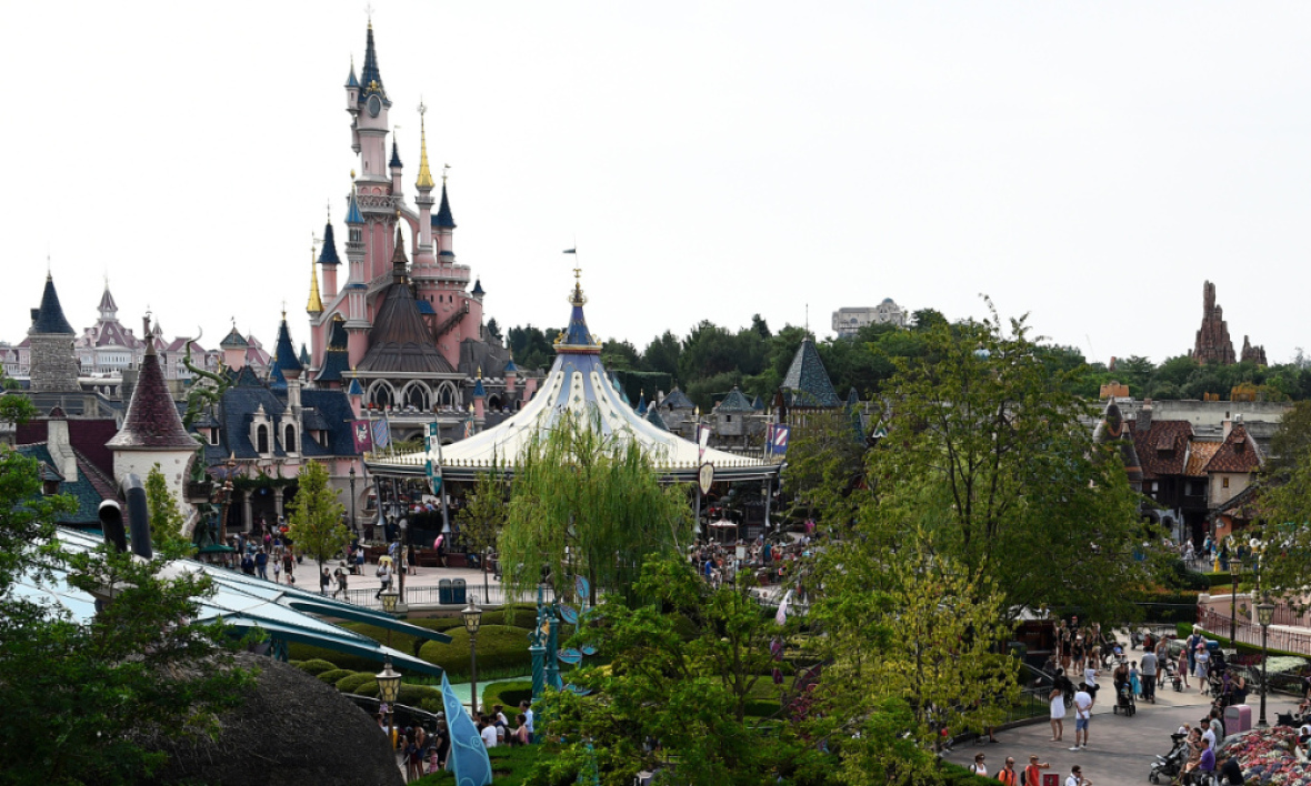 Vue de Disneyland Paris, à Marne-la-Vallée, le 13 août 2015 (photo d'illustration)