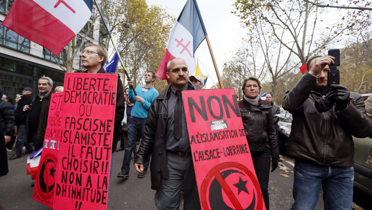 Une manifestation de Riposte laïque, en 2012, à Paris. (photo d'illustration)