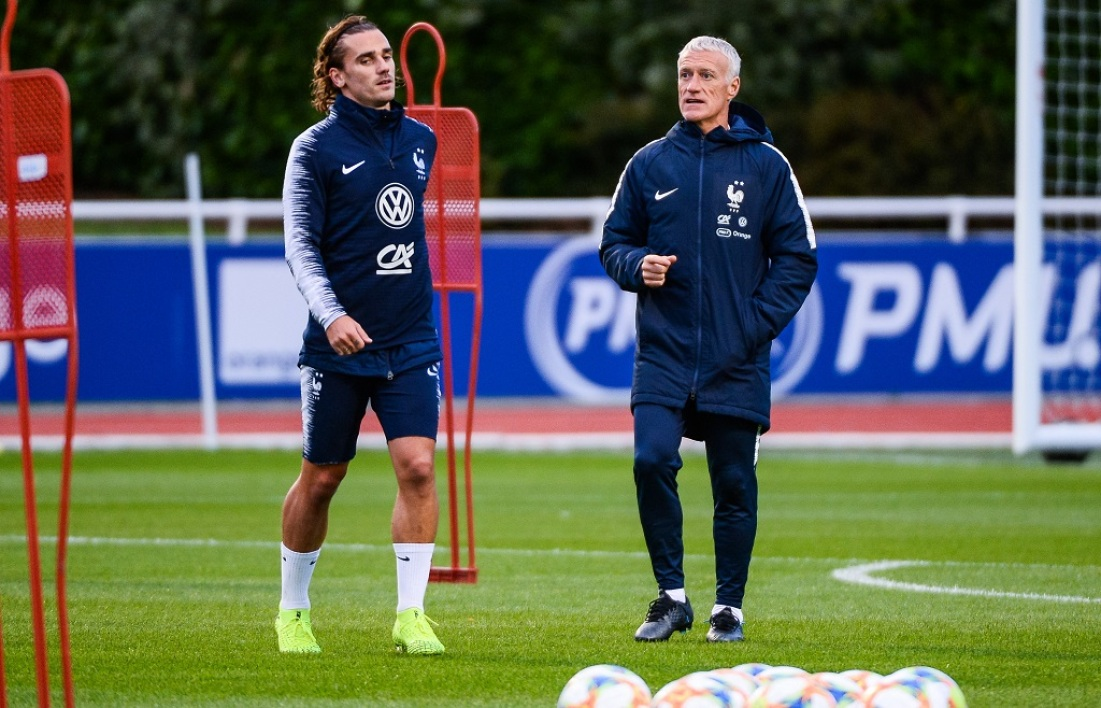 Griezmann et Deschamps