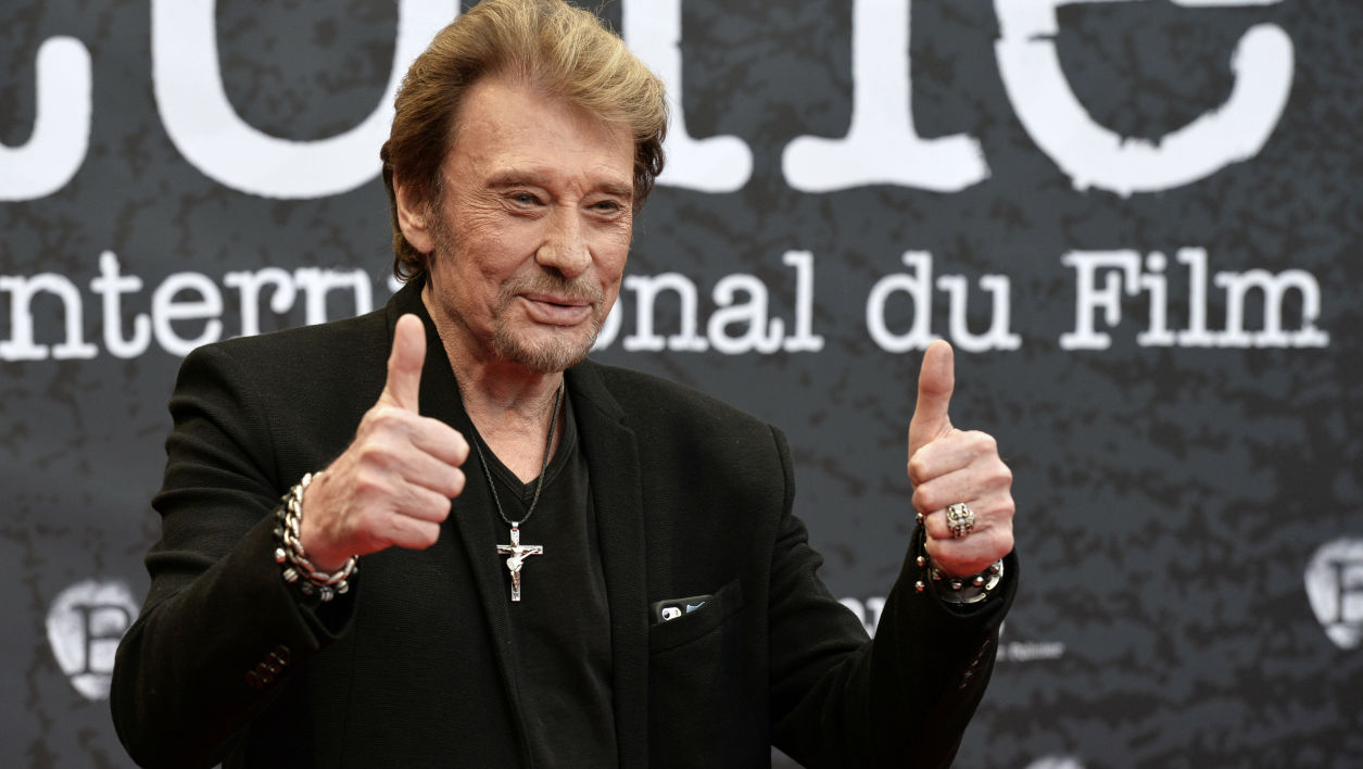 Johnny Hallyday à Beaune en 2014