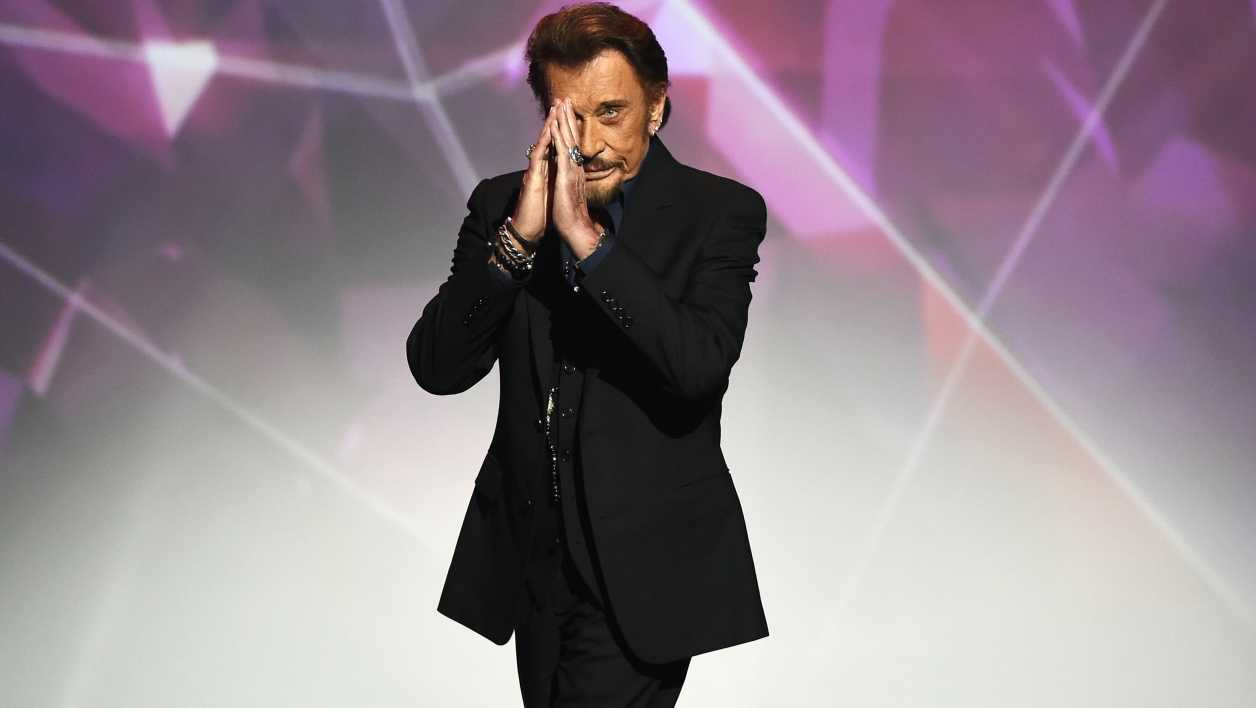 Johnny Hallyday à Paris en février 2016