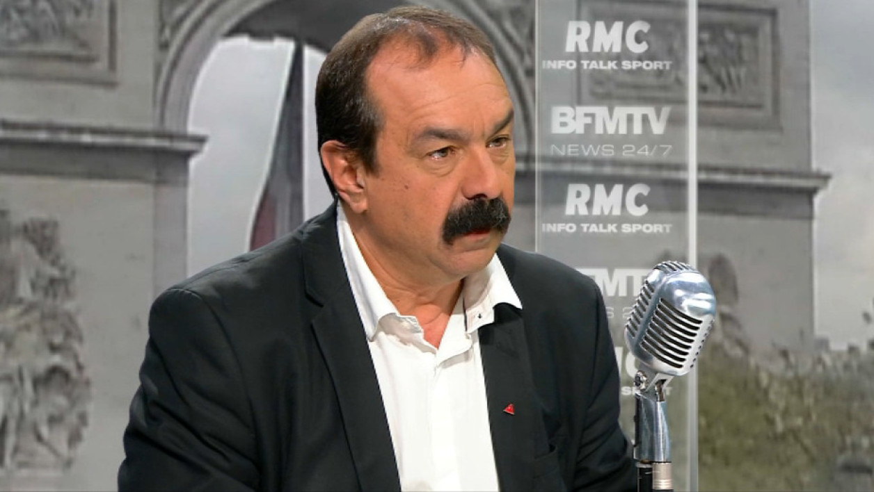 Philippe Martinez face à Jean-Jacques Bourdin: les tweets de l'interview