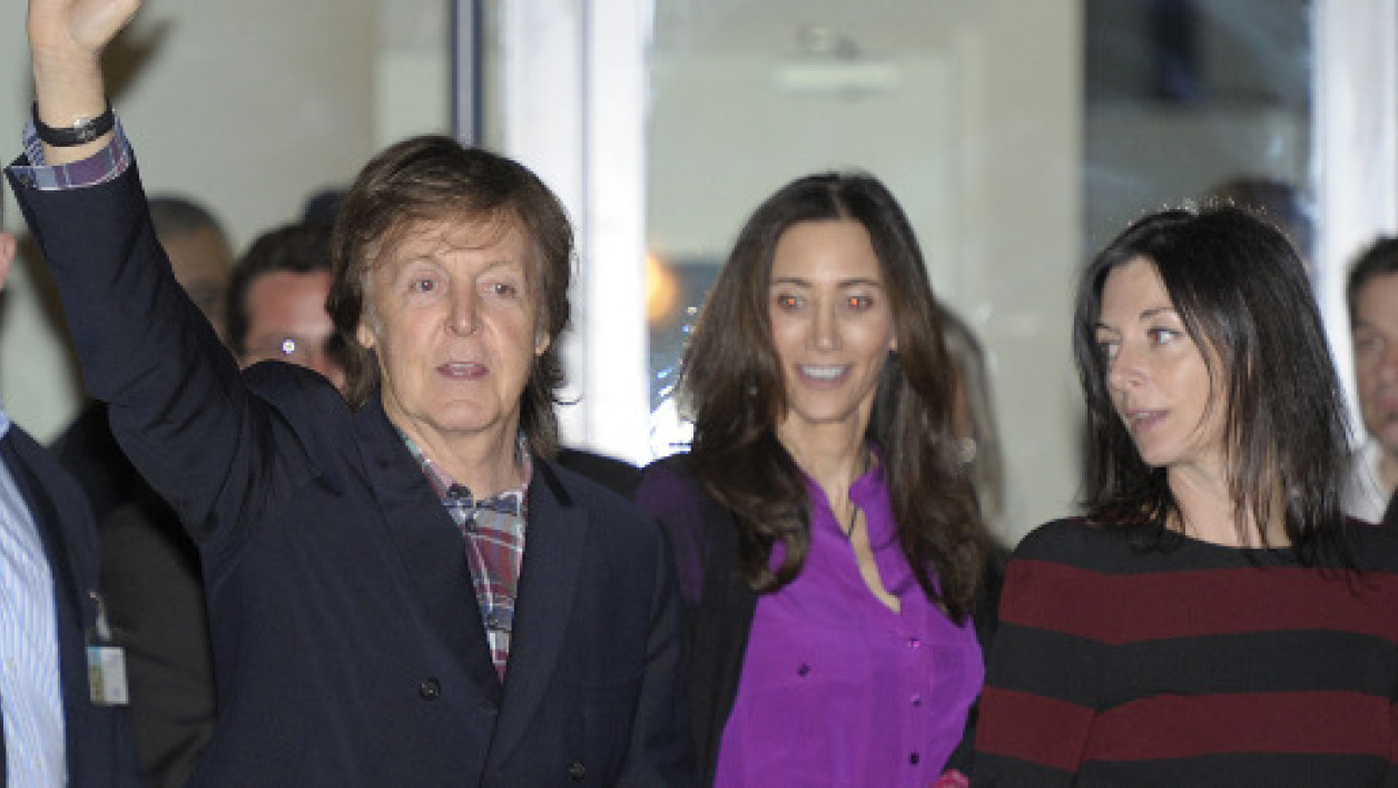 Paul McCartney à Montpellier, au vernissage de la retrospective photos de sa femme Linda, jeudi 20 février.