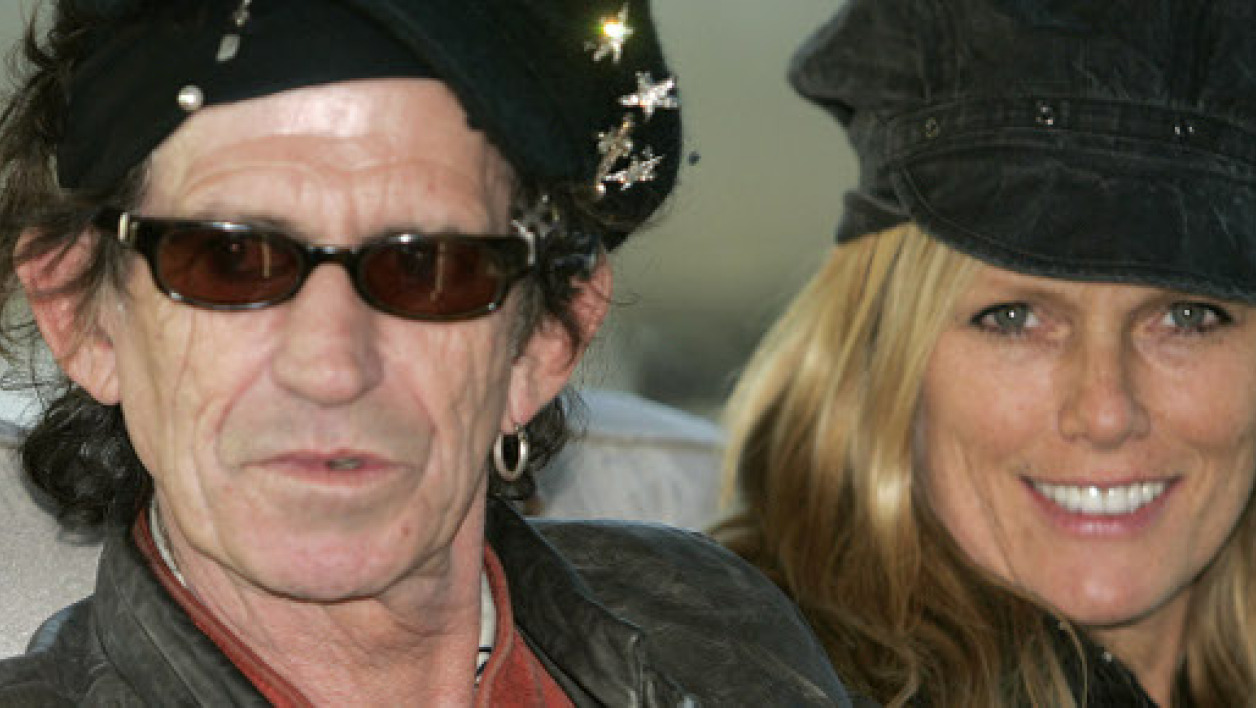 Keith Richards et sa fille Theodora, à Shanghaï, le 6 avril 2006.