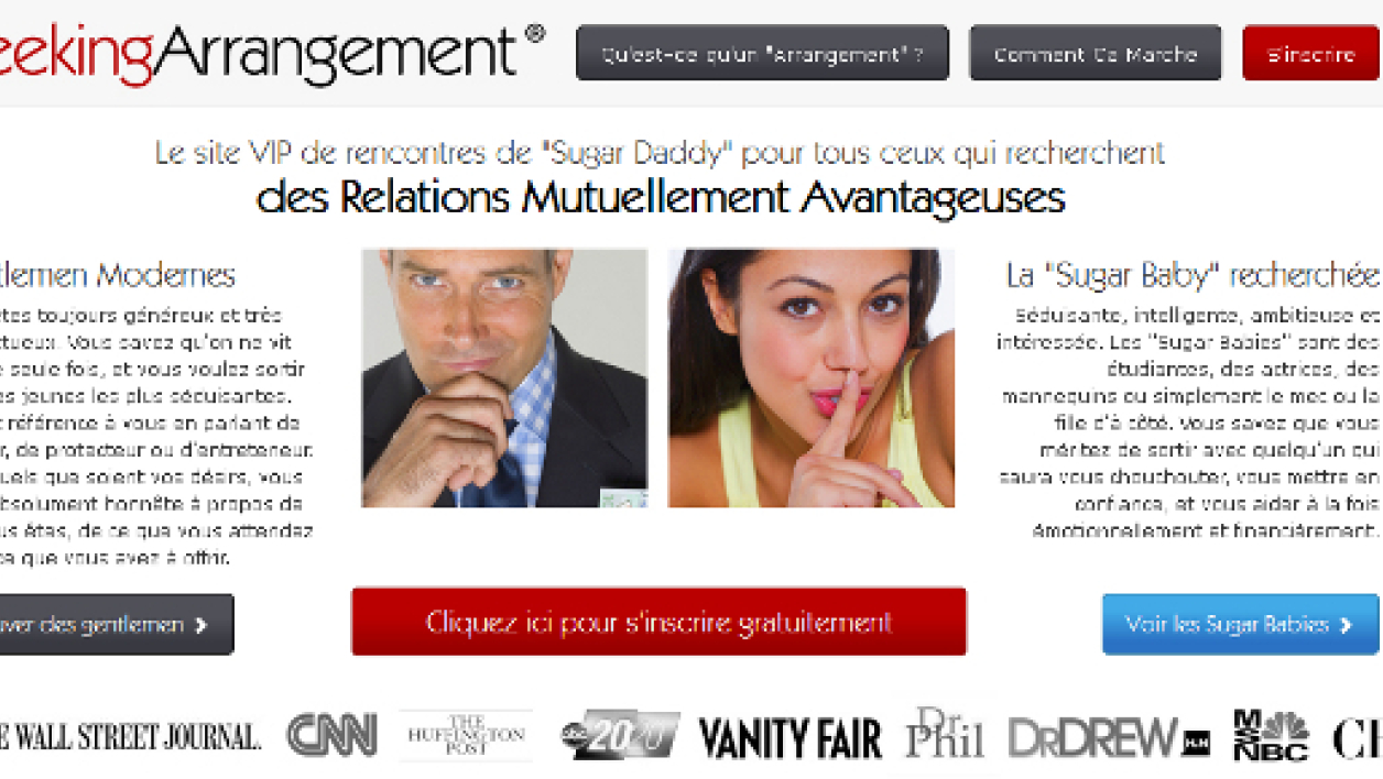 Le site Seeking Arrangement.