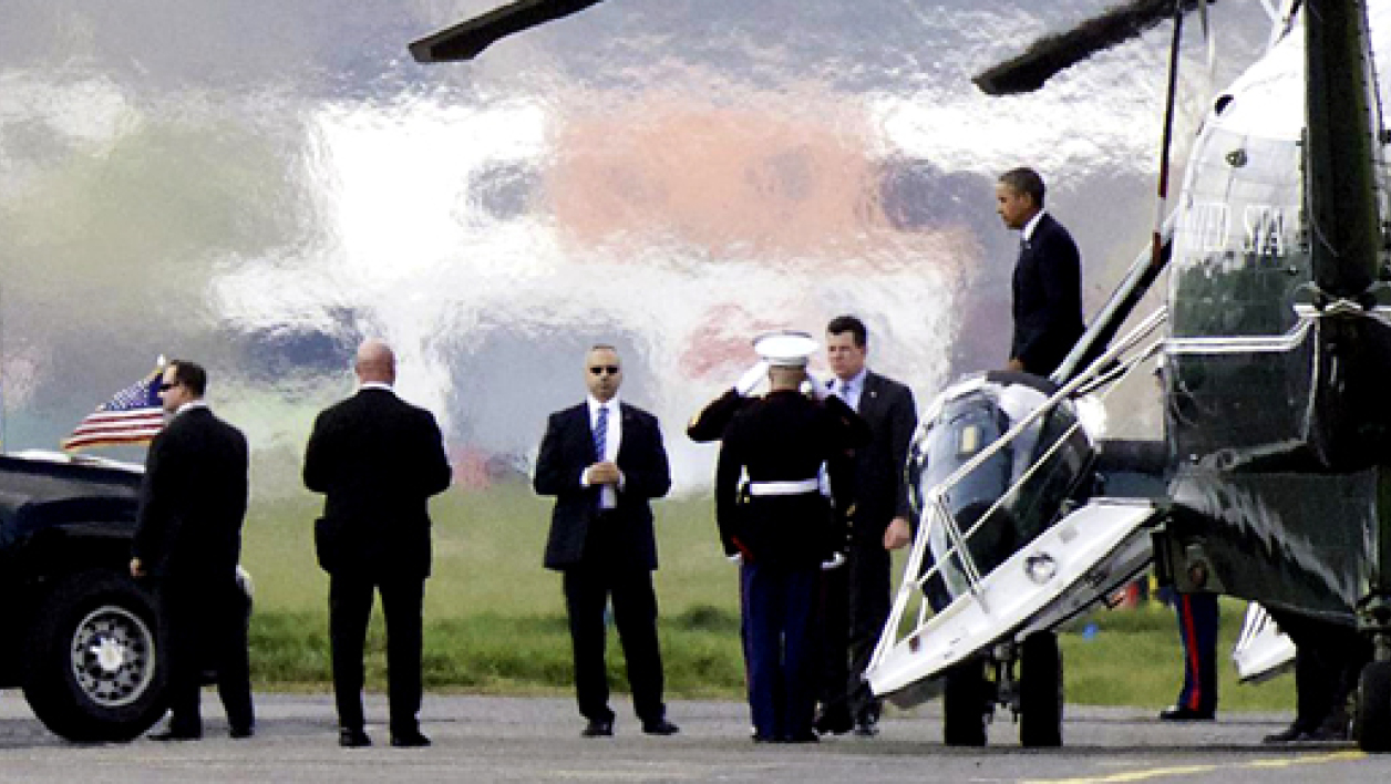 Barack Obama descendant de Marine One, le 26 mars.