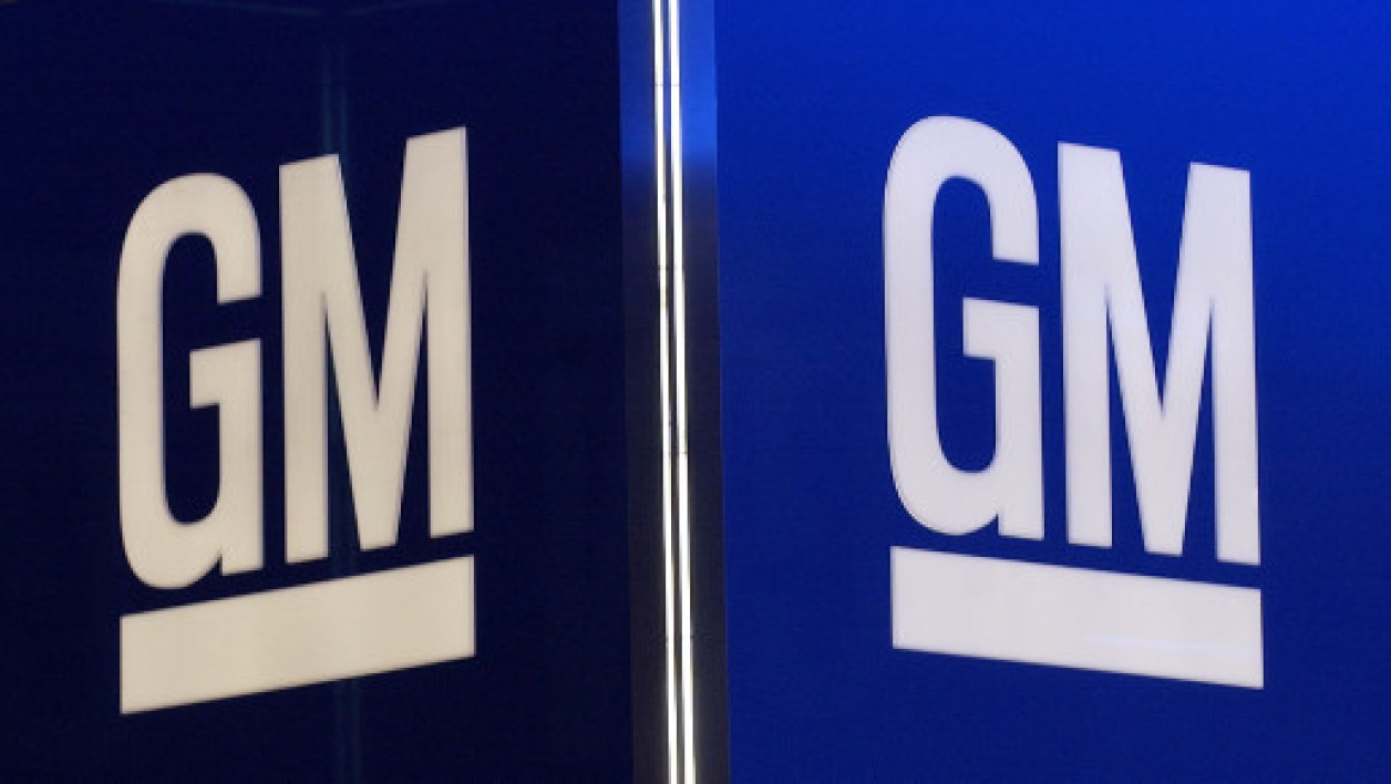 Le logo de General Motors (GM).