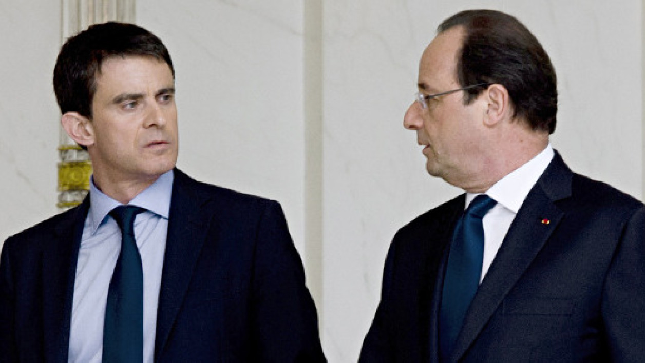 Manuel Valls et François Hollande, le 4 avril 2014.