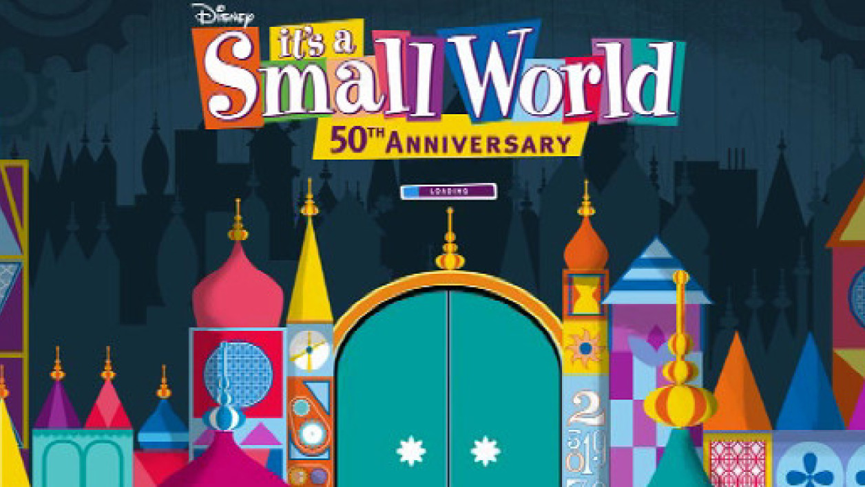 "L'attraction ""It's a small World"" de Walt Disney fête ses 50 ans le 10 acril 2014."