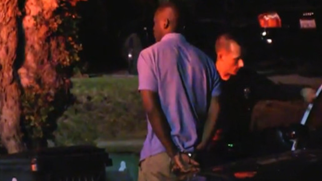 Image de l'arrestation de Michael Jace, le 20 mai 2014 à Los ANgeles.