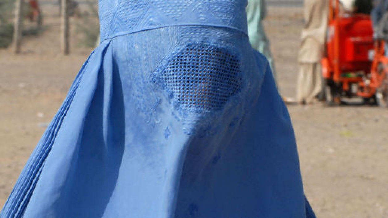 Une Pakistanaise portant la burqa, image d'illustration.