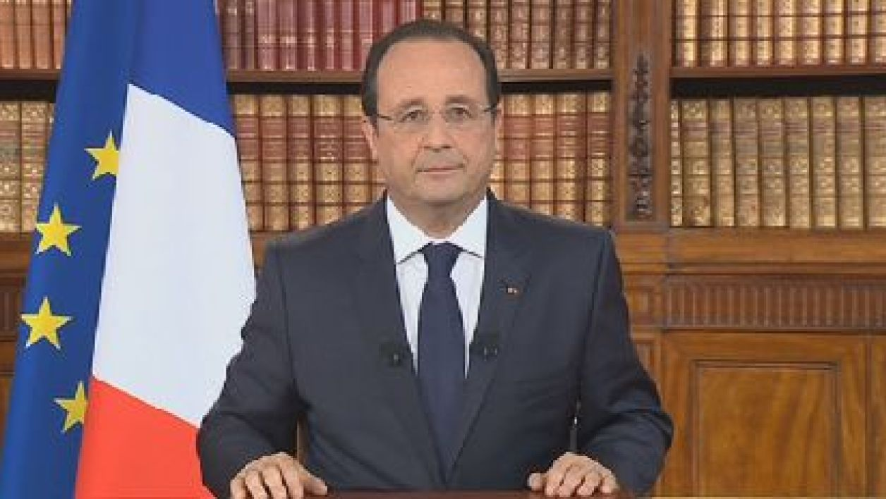 François Hollande lors d'une allocution en direct de l'Elysée