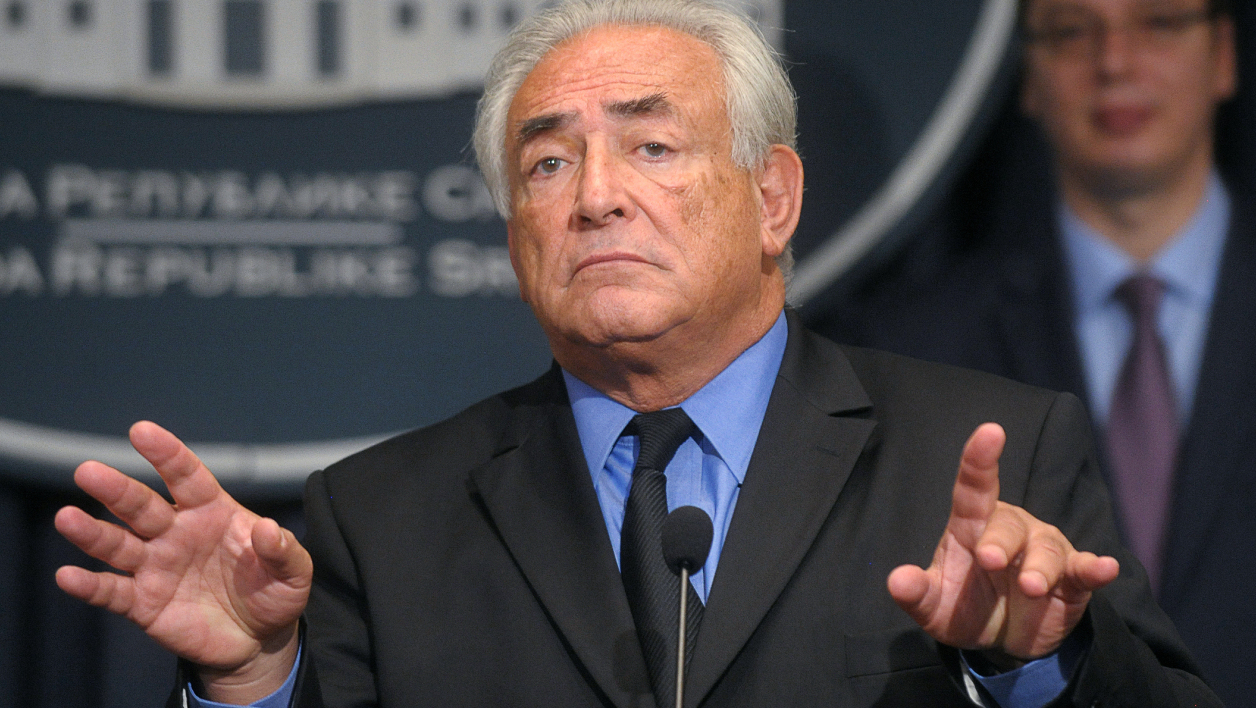 Dominique Strauss-Kahn à Belgrade, en septembre 2013.