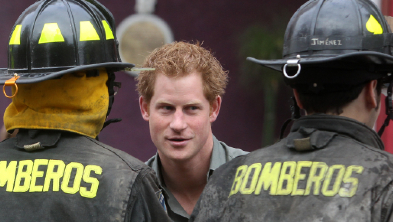Le prince Harry au Chili, le 28 juin 2014.
