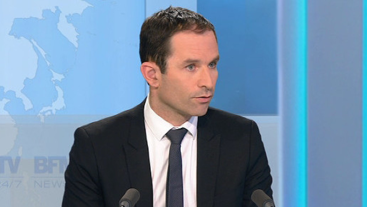 Le ministre de l'Education nationale Benoît Hamon