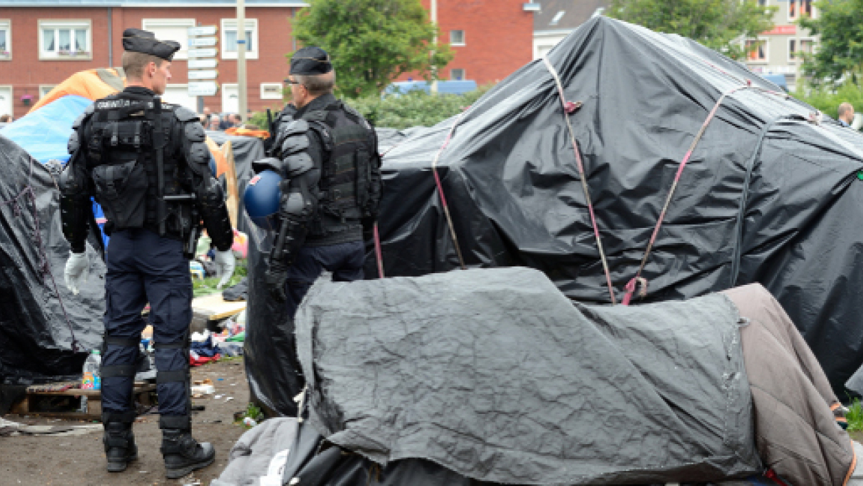 Evacuation d'un camp de migrants à Calais, le 28 mai dernier (photo d'illustration).