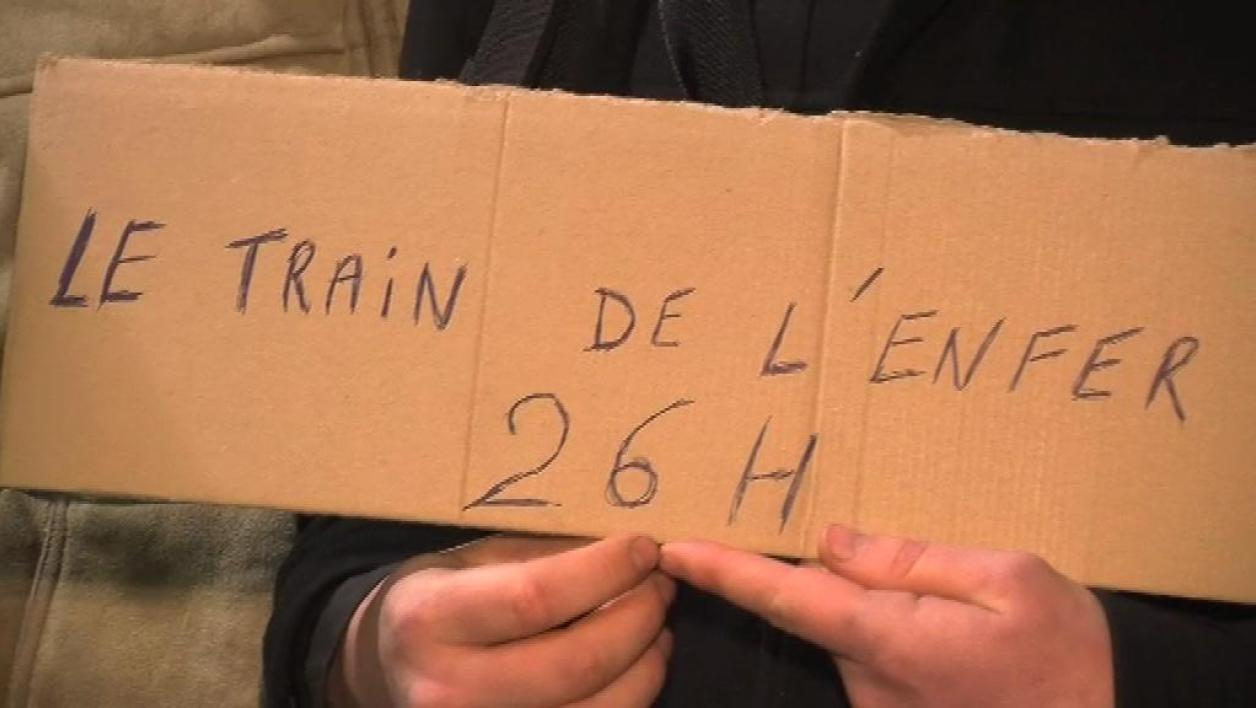 Le train maudit qui a pris un jour de retard