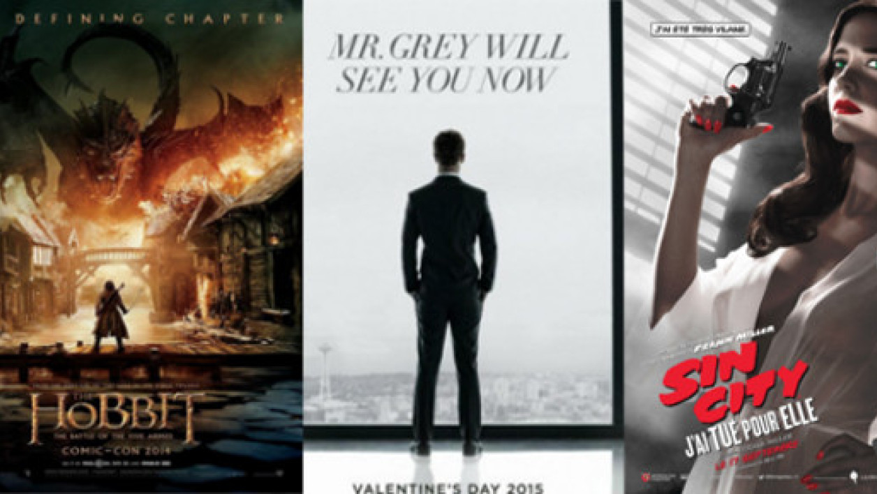 """Le Hobbit"", ""Fifty Shades of Grey"" et ""Sin City"", les bandes-annonces de la semaine."