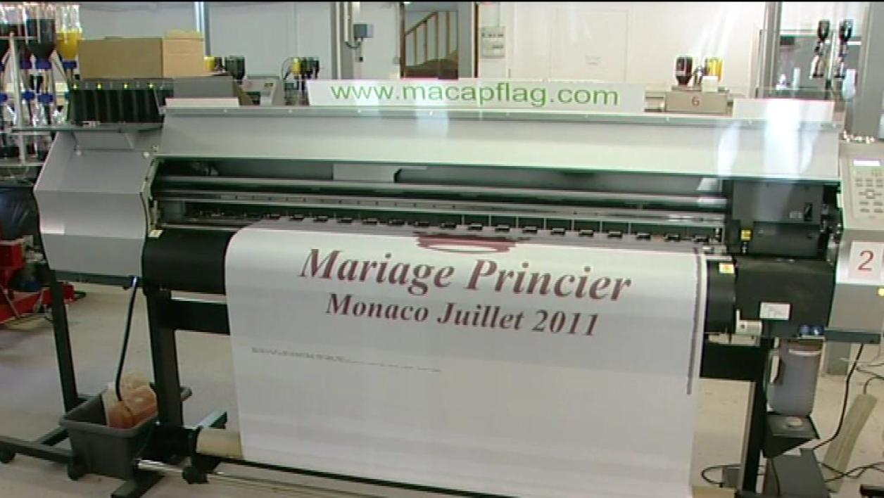 Drapeaux du mariage princier made in France