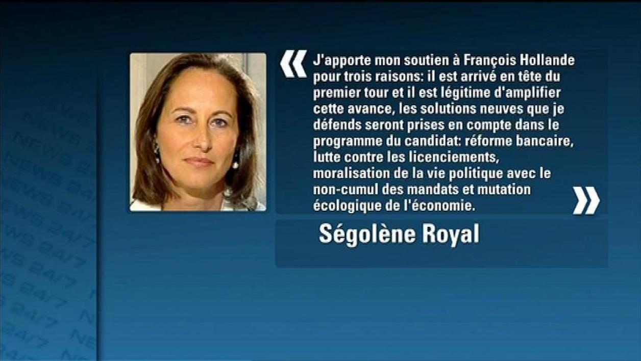 Primaire PS : Royal soutient Hollande