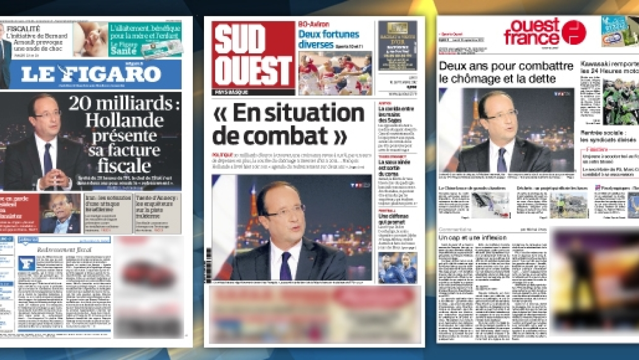 Grand oral de Hollande : la revue de presse