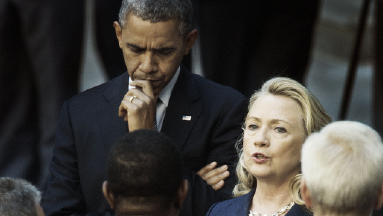 Barack Obama et Hillary Clinton à Washington, le 12 septembre 2012