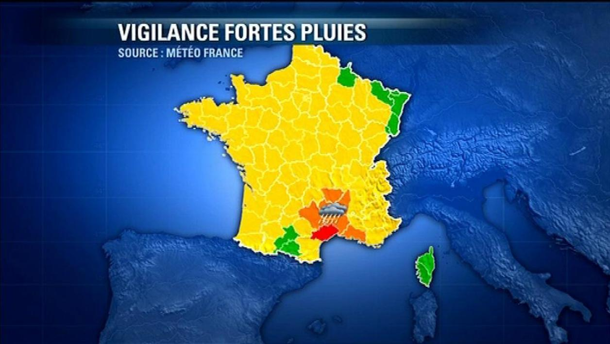 7 départements alerte orange, l'Hérault voit rouge