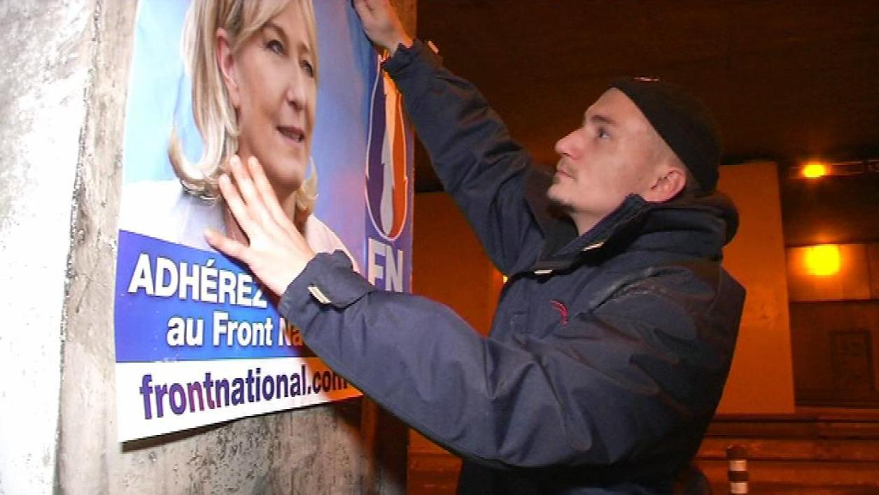 Le Front national lance une campagne d'affichage sauvage