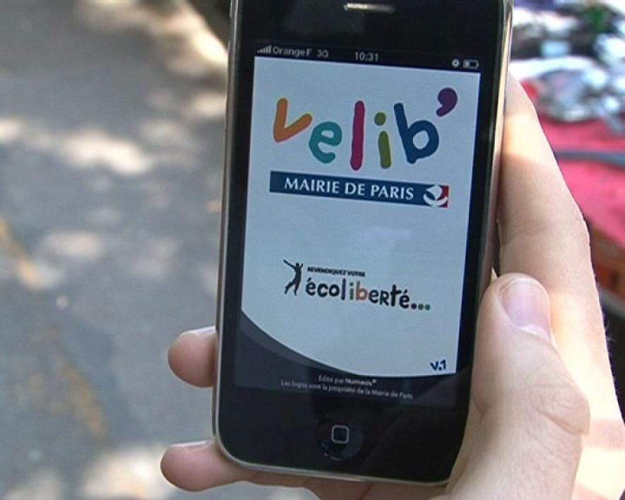 Une application Velib' pour l'iPhone