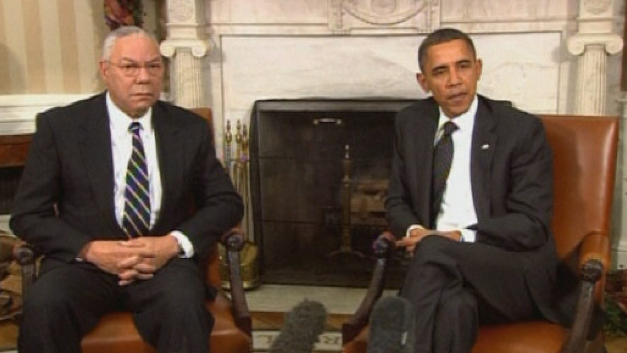 Colin Powell et Barack Obama