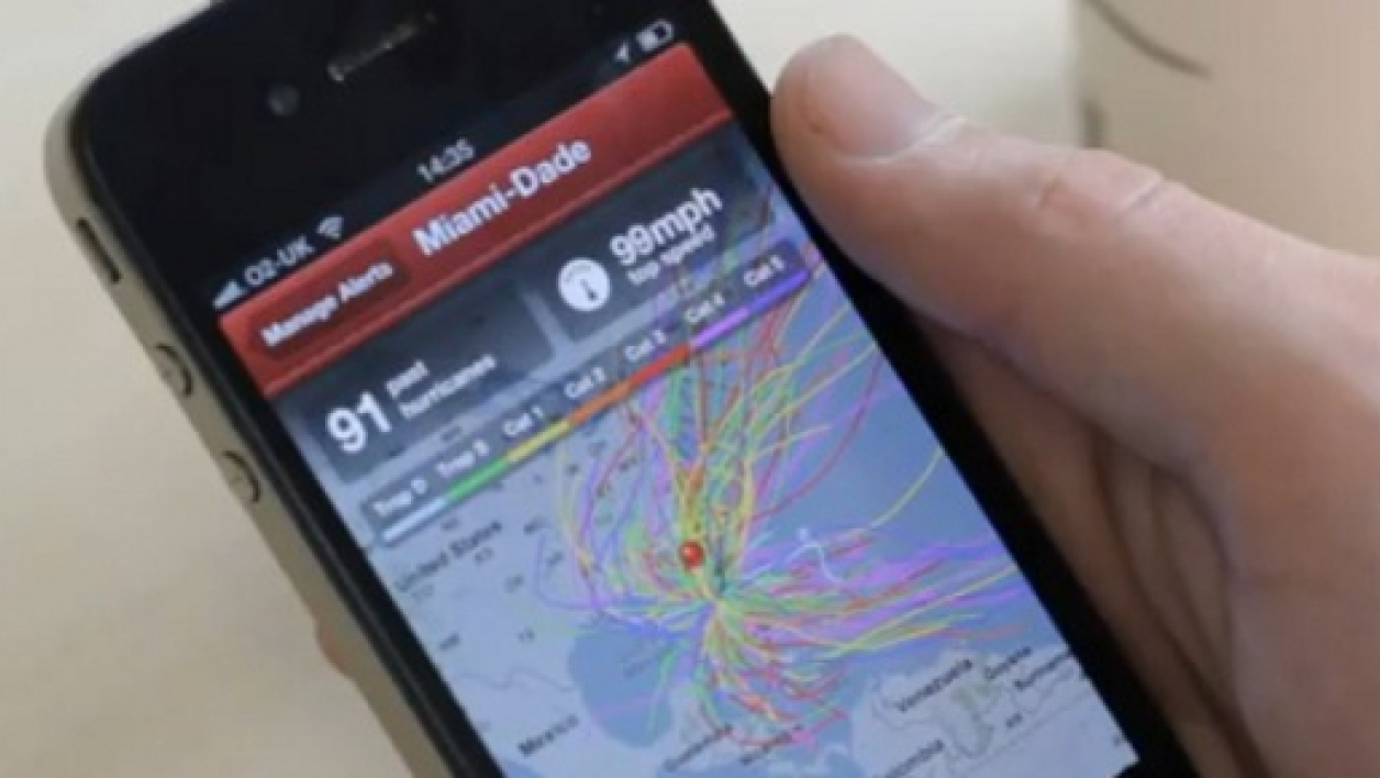 "L'application ""Hurricane by American Red Cross"" sur smartphone"