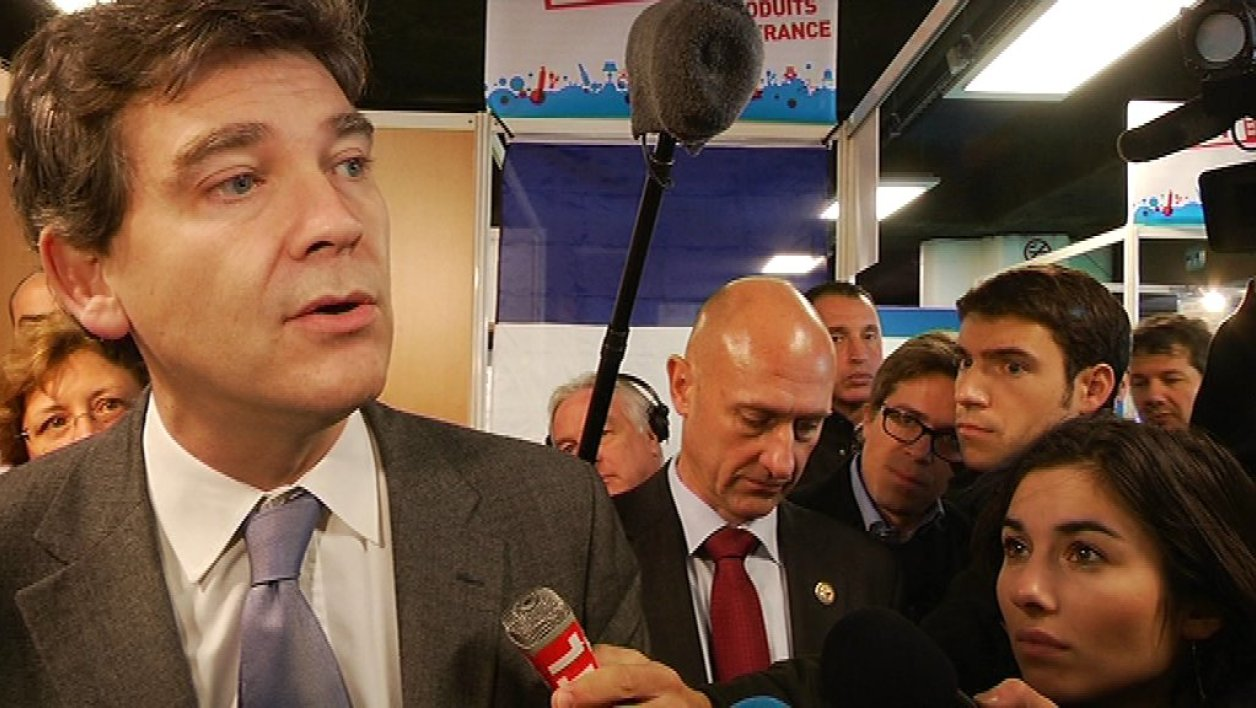 Arnaud Montebourg au salon du Made in France