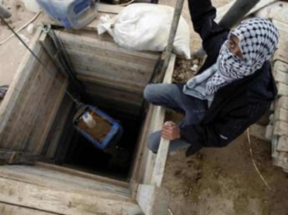 Un tunnel à Gaza