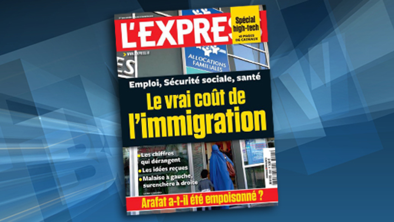 La couverture de L'Express, demain en kiosques