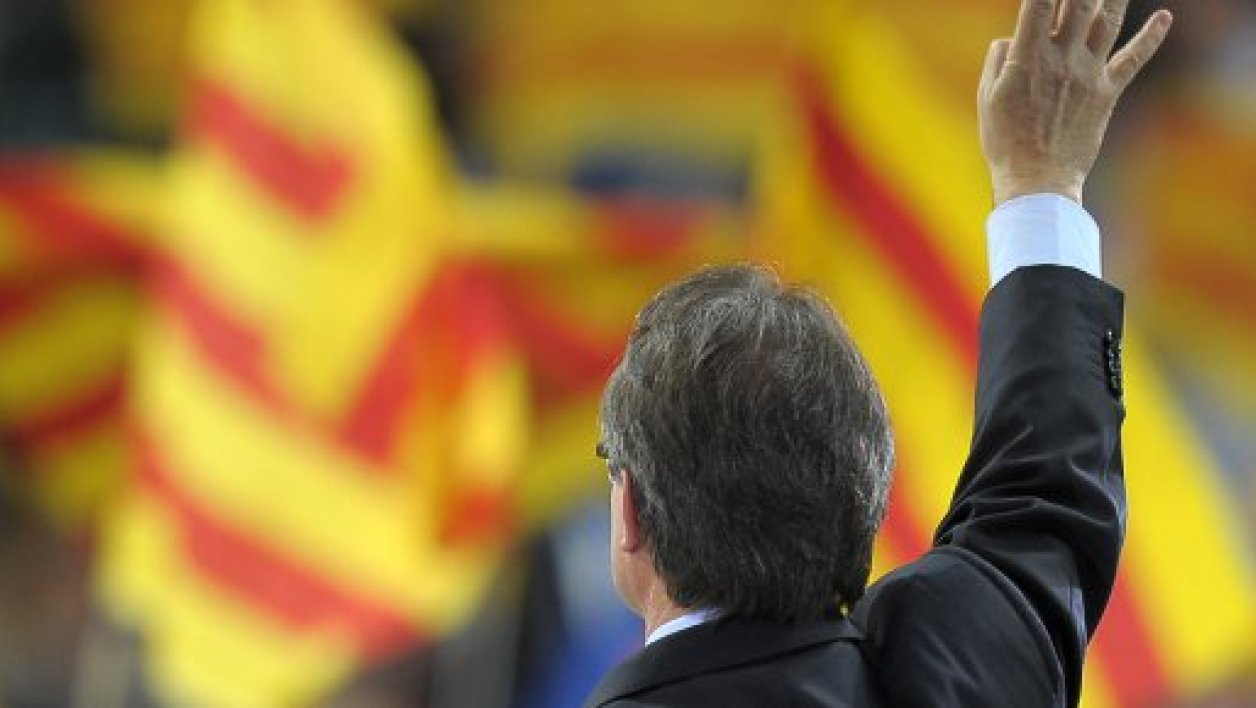Le chef de file nationaliste Artur Mas lors de son dernier meeting de campagne