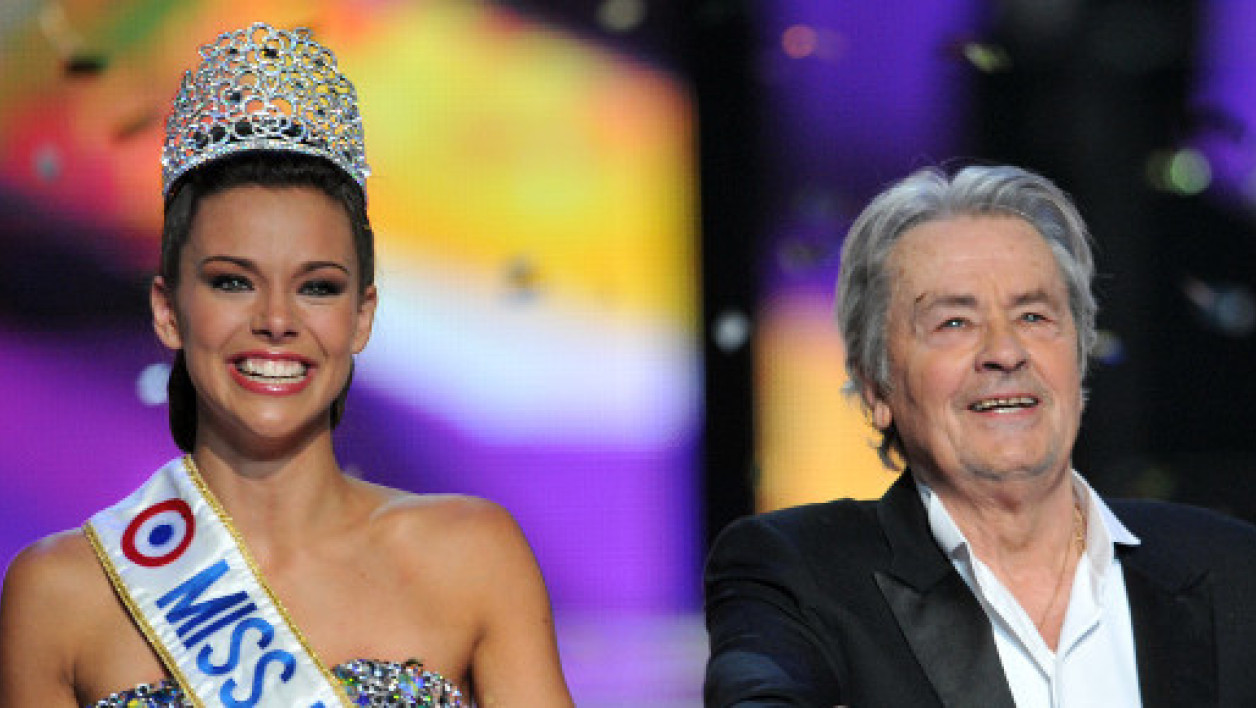 Marine Loprhelin, Miss France 2013, et Alain Delon