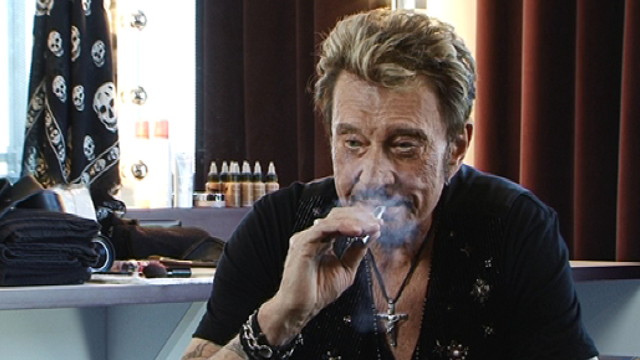 Johnny Halliday, en 2012