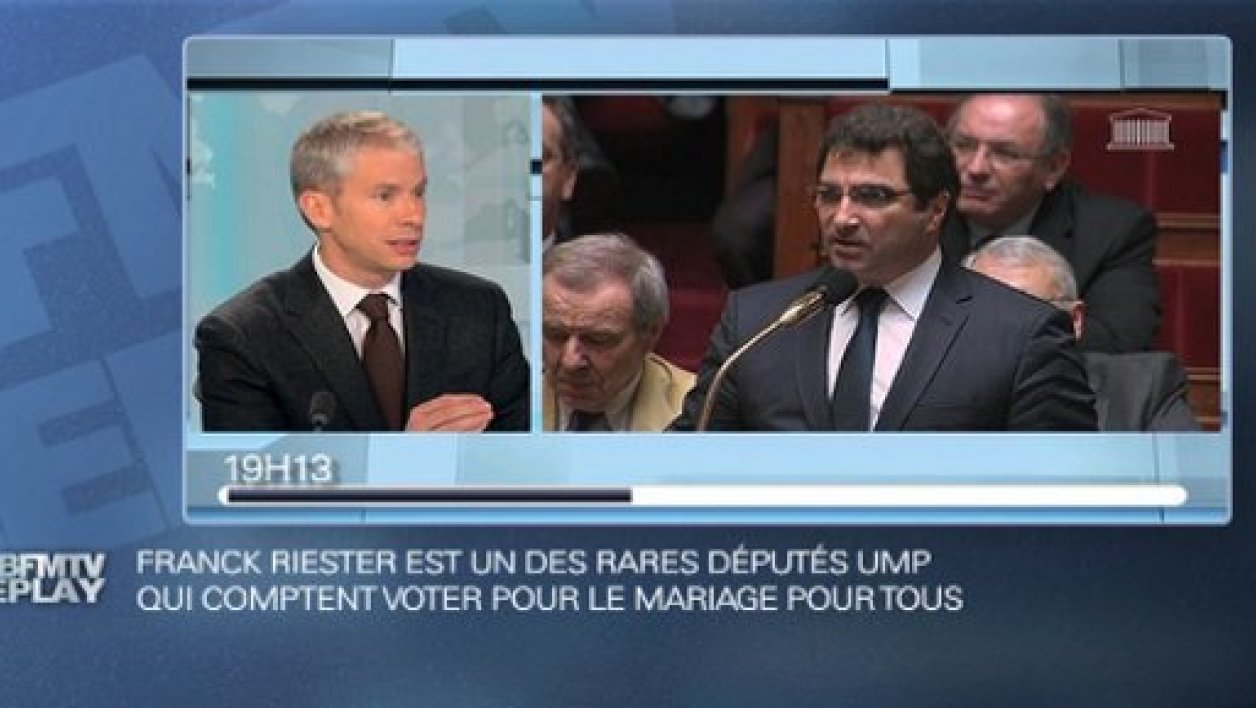 BFMTV Replay du 29 janvier : Riester soutient le mariage homo
