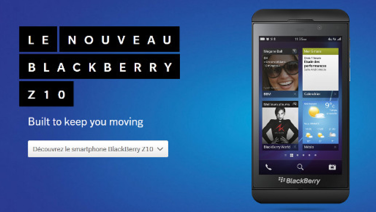 Le BlackBerry Z10 de BlackBerry, prend des allures d'iPhone.
