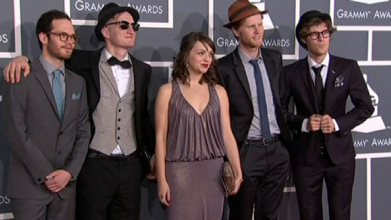 Le groupe The Lumineers, aux Grammy Awards.